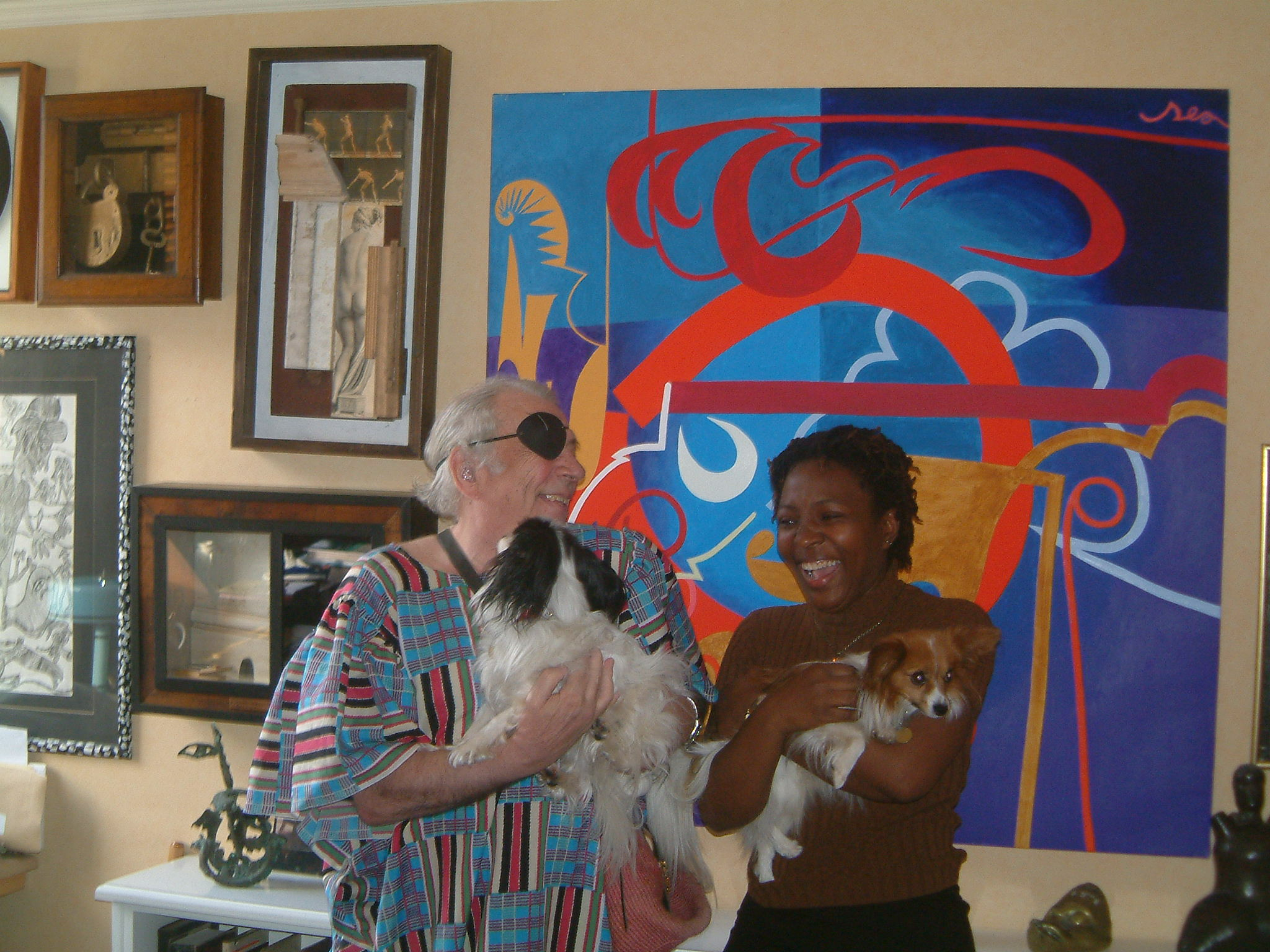 Photo of George Melly with Desdemona